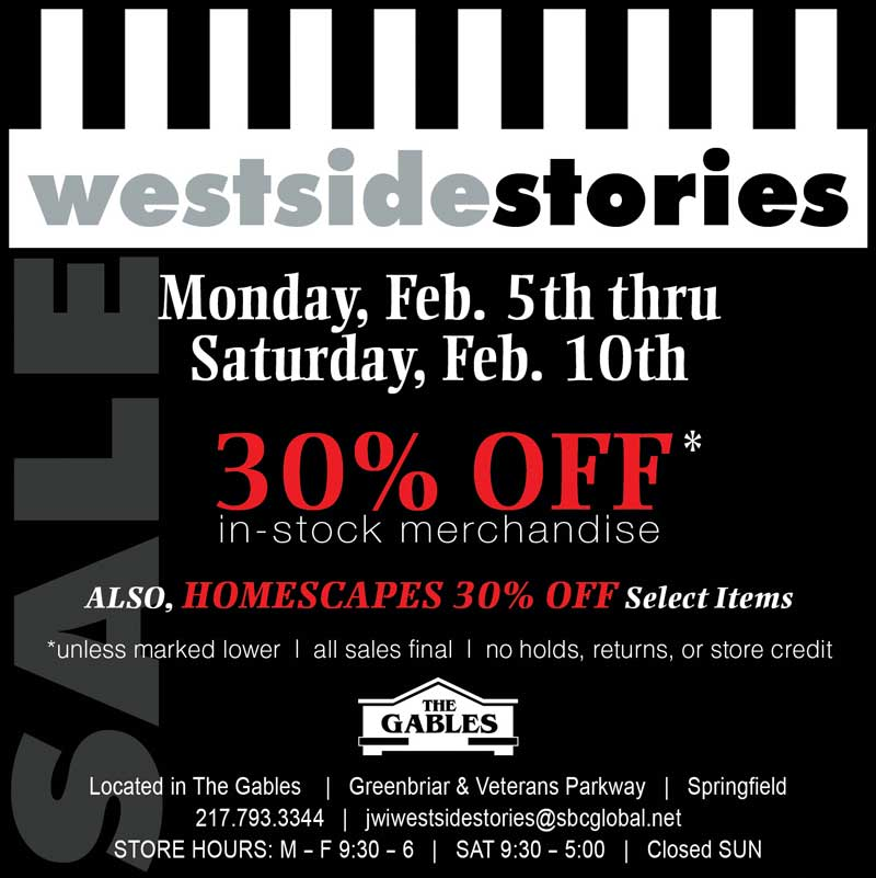 Westside Stories and Homescapes 30% Off Sale